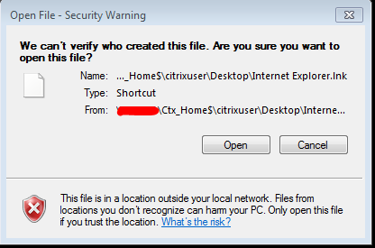 Open File Security Warning – Enable or Disable | Citrixology