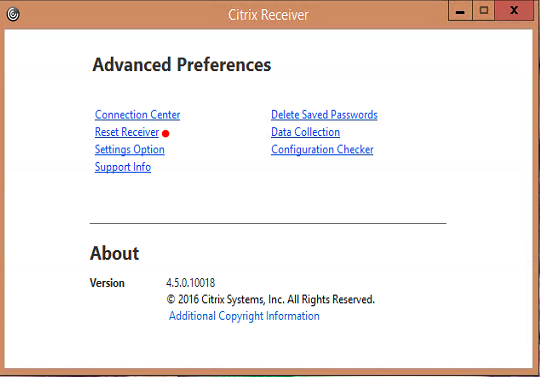 What happens when you reset Citrix Receiver? | Citrixology